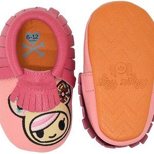 Itzy Ritzy Tokidoki Leather Mocassins Pink NIB